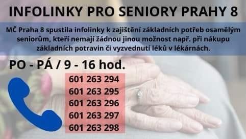 Infolinky pro seniory Prahy 8